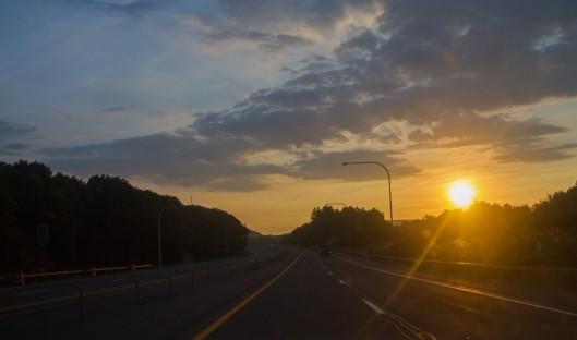 Sunrise this morning along I-88 at Oneonta, NY. © Joe Geronimo 2015