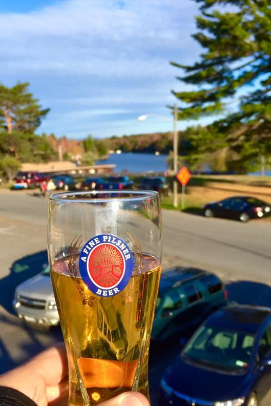 Enjoying a cold beer at the Back Door Bar in Old Forge, NY. © Joe Geronimo 2015