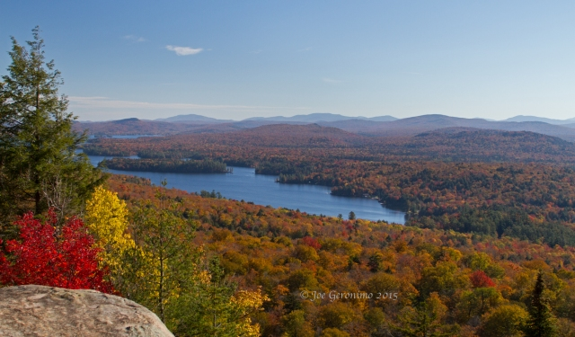 Looking north on the Fulton Chain of Lakes from Bald Mountain. © Joe Geronimo 2015