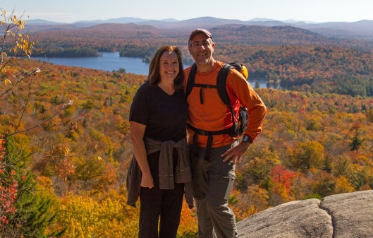 Julie & I on Bald Mountain.