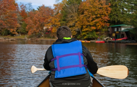 Max & I waiting our turn to dock at the Tickner's Canoe boat house. © Joe Geronimo 2015