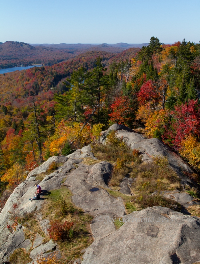 View from the Rondaxe fire tower looking south towards Old Forge, NY. © Joe Geronimo 2015