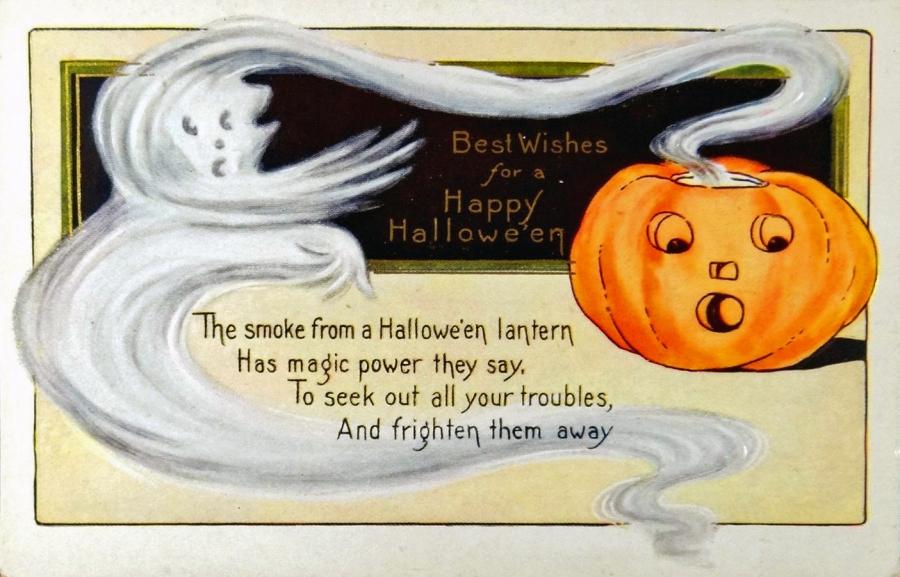 Whitney Halloween Postcard