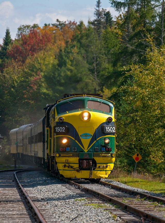 "Adirondack Scenic Railroad ""Railroader's Special"" arrives the station at Big Moose, NY on September 24th 2015."