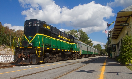 Adirondack Scenic Railroad at Thendera, NY on September 24th 2015.