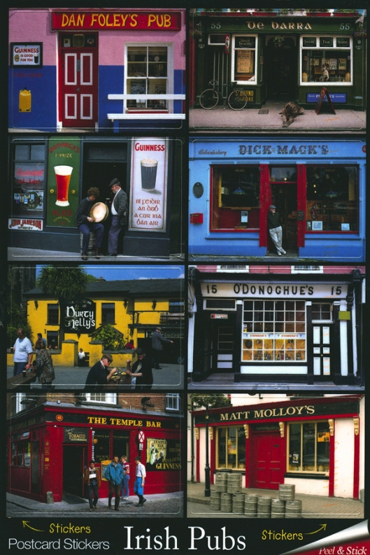 Irish Pubs Stickers Postcard