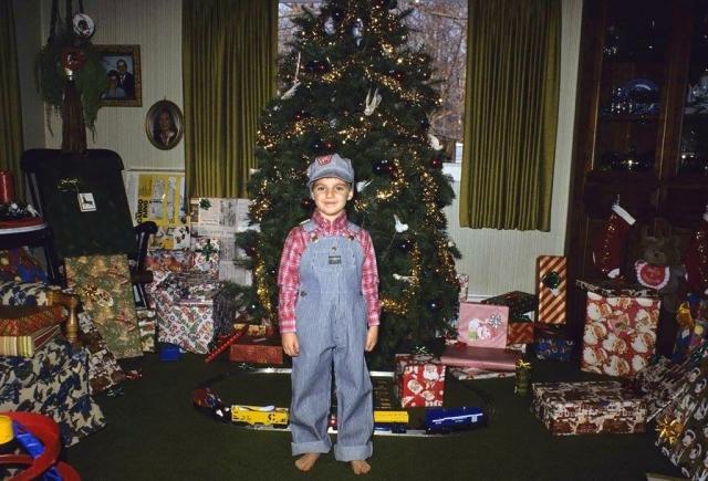 Brock Kerchner Christmas Day 1985. Kodachrome 64.