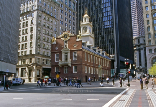 Here is the site of the March 5th 1770 Boston Massacre. On April 12th 2012 I captured this image while our family was in Boston. Ektachrome 100 ©Joe Geronimo