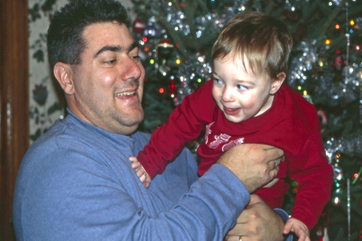 Dad & Max Christmas Day 2003 in Michigan.