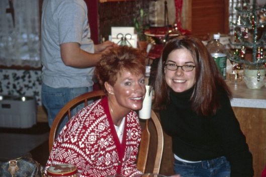 Julie's sister Beth and nice Liz Christmas Day 2003 in Michigan.