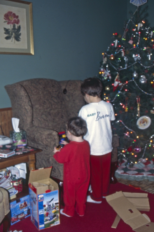 Michael & Max Christmas Day 2003 in Ohio.