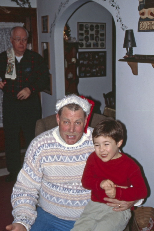 Michael & uncle Dave Christmas 2003 in Ohio.