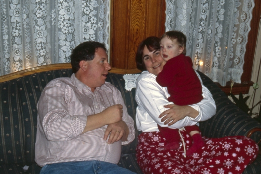 Max, aunt Christine & Uncle Rick Christmas Day 2003 in Michigan.