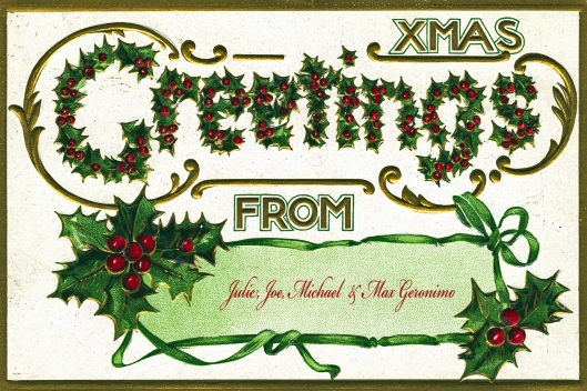 Xmas Greetings Postcard name