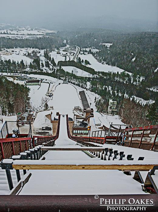 120 Meter Ski Jump in Lake Placid, NY.