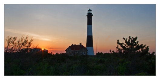 The Fire Island Lighthouse is a visible landmark on the Great South Bay, in southern Suffolk County, New York on the western end of Fire Island, a barrier island off the southern coast of Long Island. © Joe Geronimo