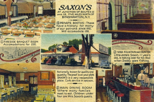Vintage linen Saxon's of Binghamton, NY.