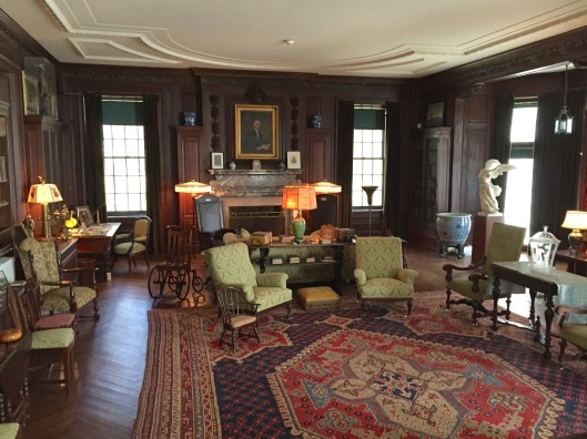 The library room in FDR's home.