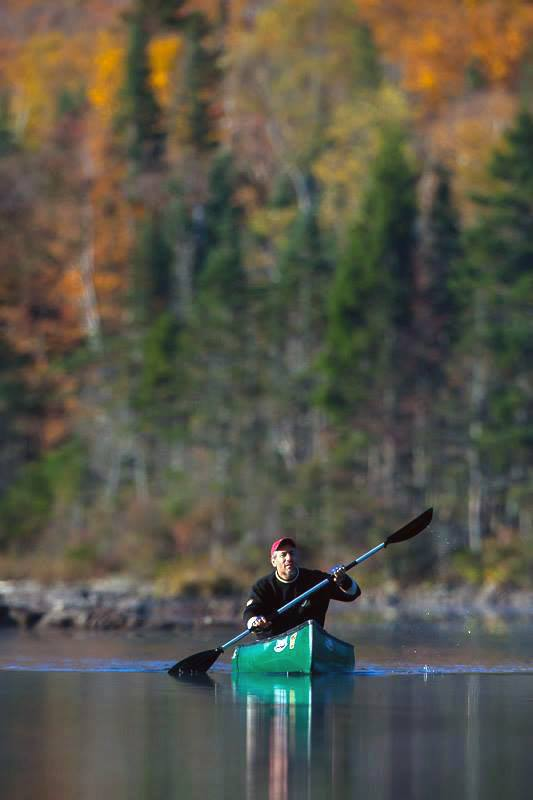 "Paddling in northern New Hampshire in one of my favorite canoes ""The Old Town Pack"". In 2015 I sold this light weight canoe for an even lighter weight Hornbeck canoe which weighs a total of 17 lbs."