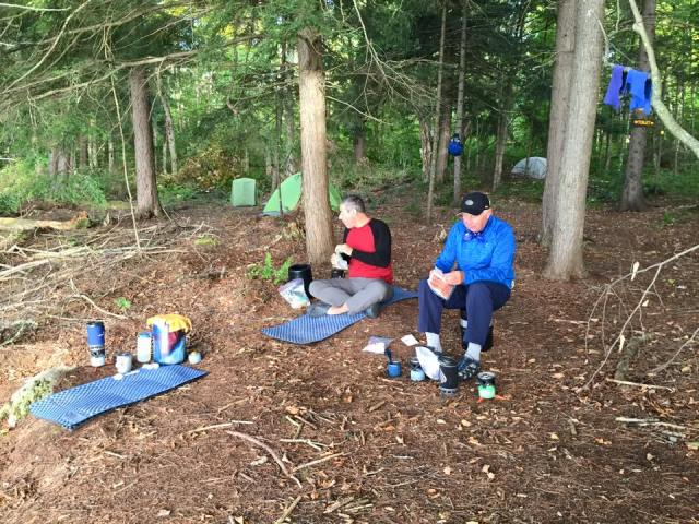 Breakfast along Third Lake in New York's Essex Chain of Lakes in September 2015.