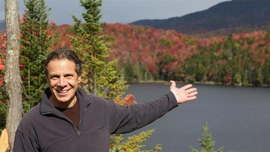New York Governor Andrew Cuomo visits Boreas Ponds in the Adirondacks which is among 69,000 acres that were acquired by the state. (I obtained this image via Google).
