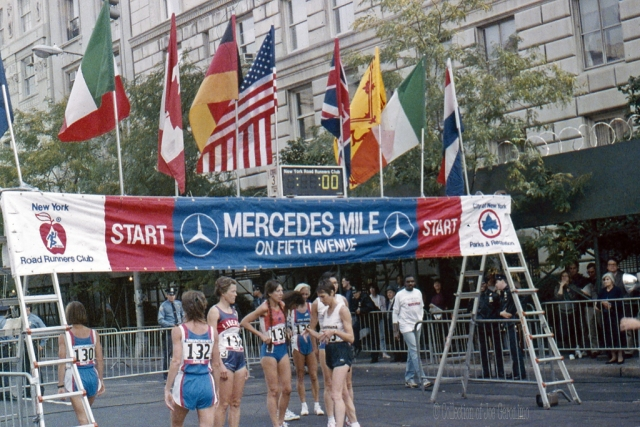 "New York Road Runners ""Mile Race"" 1988. Collection of Joe Geronimo"