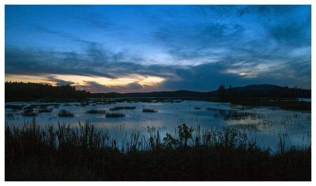 Sunset Tupper Lake, NY September 24th 2015. Image © Joe Geronimo