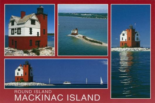 Postcard Round Island Lighthouse