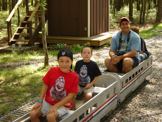 """The boys absolutely loved the """"Long Island Live Steamers"""" in Brookhaven, NY. I think they rode the entire day! August 19th 2006."""