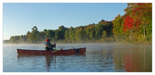 Don Welch taking in the Autumn beauty on Nanticoke lake September 28th 2016. Image © Joe Geronimo.