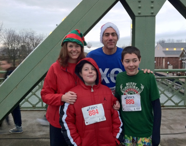This would be our second race (5K) as a family. It's a Wonderful Run Seneca Falls, NY December 8th 2012.