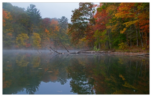 Chinning lake, Chenango Valley State Park October 14th 2016. Image © Joe Geronimo