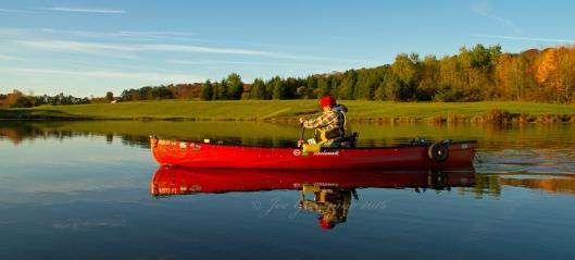 Don Welch paddling Nanticoke Lake Ocotber 12th 2016. Image © Joe Geronimo