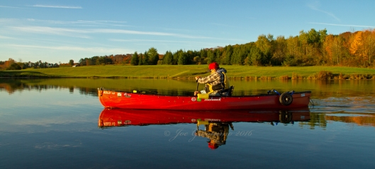 Don Welch paddling Nanticoke Lake Ocotber 12th 2016. Image © Joe Geronimo