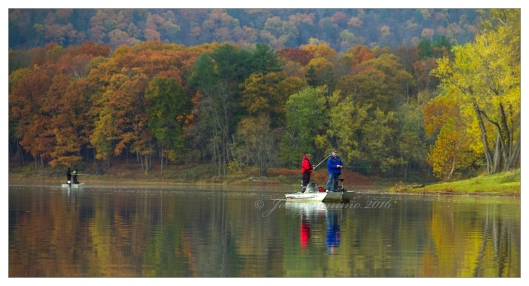 Approaching Hiawatha Island I came across several fisherman October 30th 2016. Image © Joe Geronimo