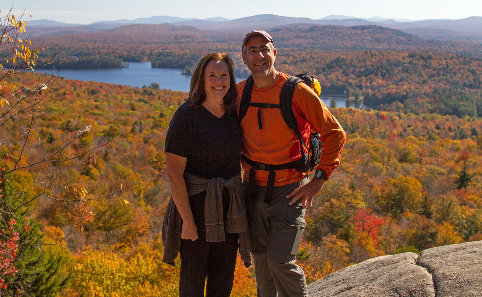 Julie & I atop of Bald Mountain October 12th 2015. Image © Michael Geronimo.
