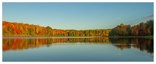 Fall color is alive and well along Nanticoke Lake October 12th 2016> Image © Joe Geronimo