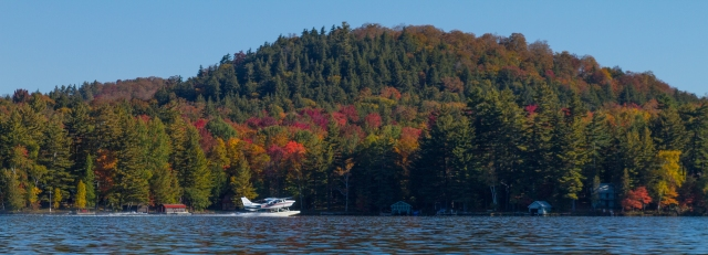 Payne's Air Service taking off on 7th Lake. Inlet, NY October 6th 2016 Image © Joe Geronimo