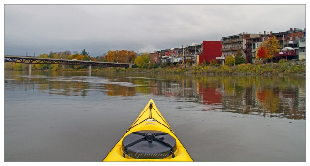 Arriving in downtown Owego, NY October 30th 2016. Image © Joe Geronimo