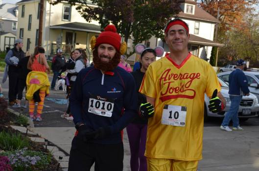 Tom & I prior to the Halloween 13K & Relay October 29th 2016.