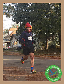 Tom Hanselman running leg #1 along the Halloween 13K & Relay October 29th 2016. Photo courtesy of Confluence Running.