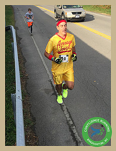 Joe Geronimo runner #2 Halloween 13K & Relay October 29th 2016. Photo courtesy of Confluence Running.