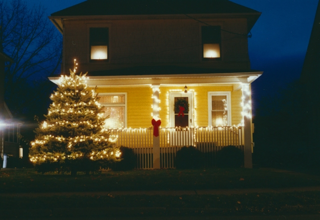Our first home in Johnson City, NY, December 1996.