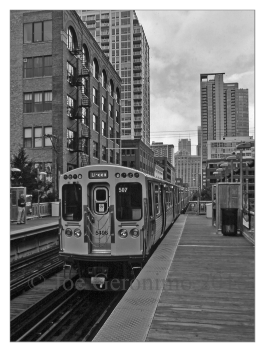 "The Chicago ""L"" July 15th 2016. Agfa CT Precisa Slide Film, © Joe Geronimo."