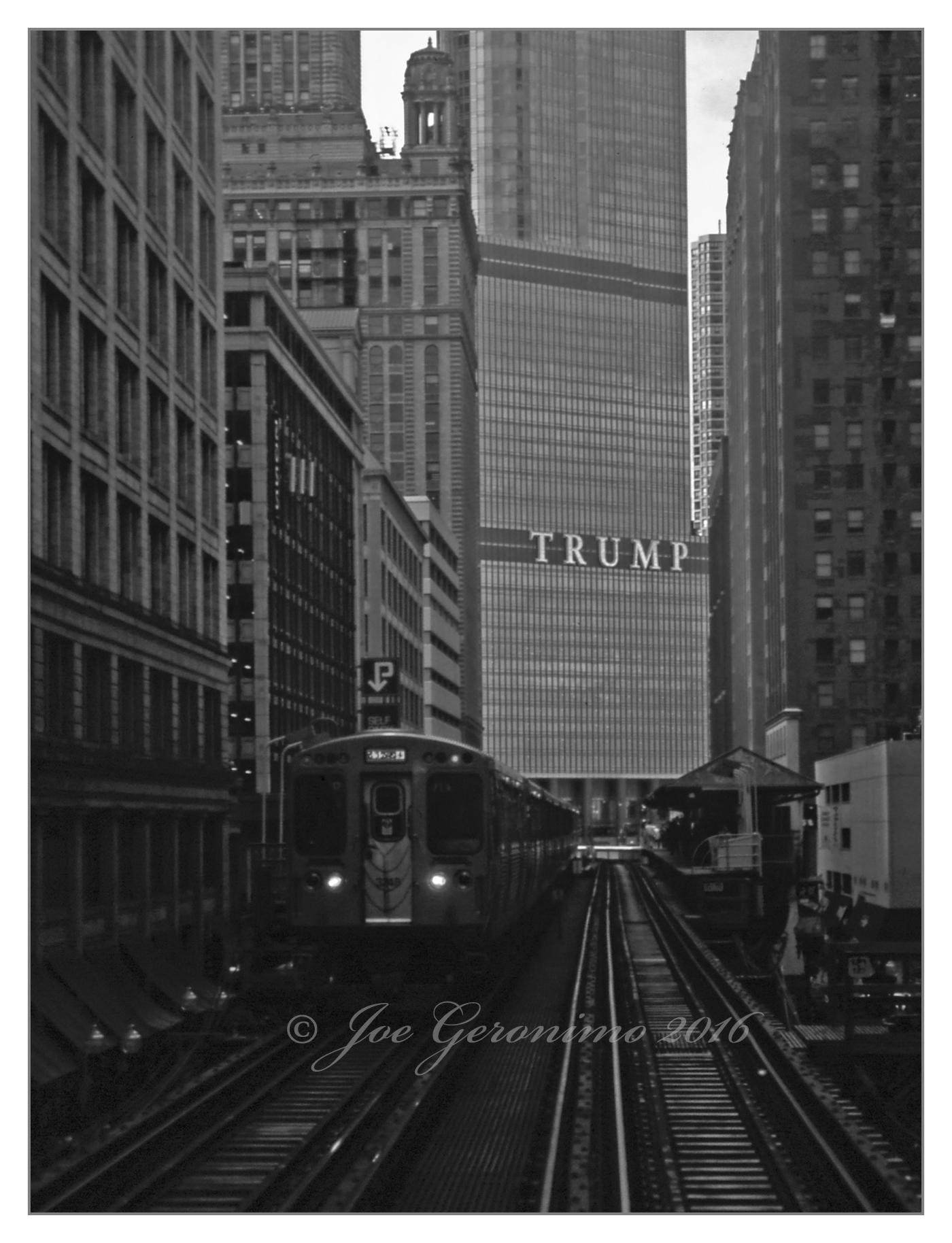 "Adams & Wabash station Chicago ""L"" July 15th 2016. Agfa CT Precisa Slide Film, © Joe Geronimo"