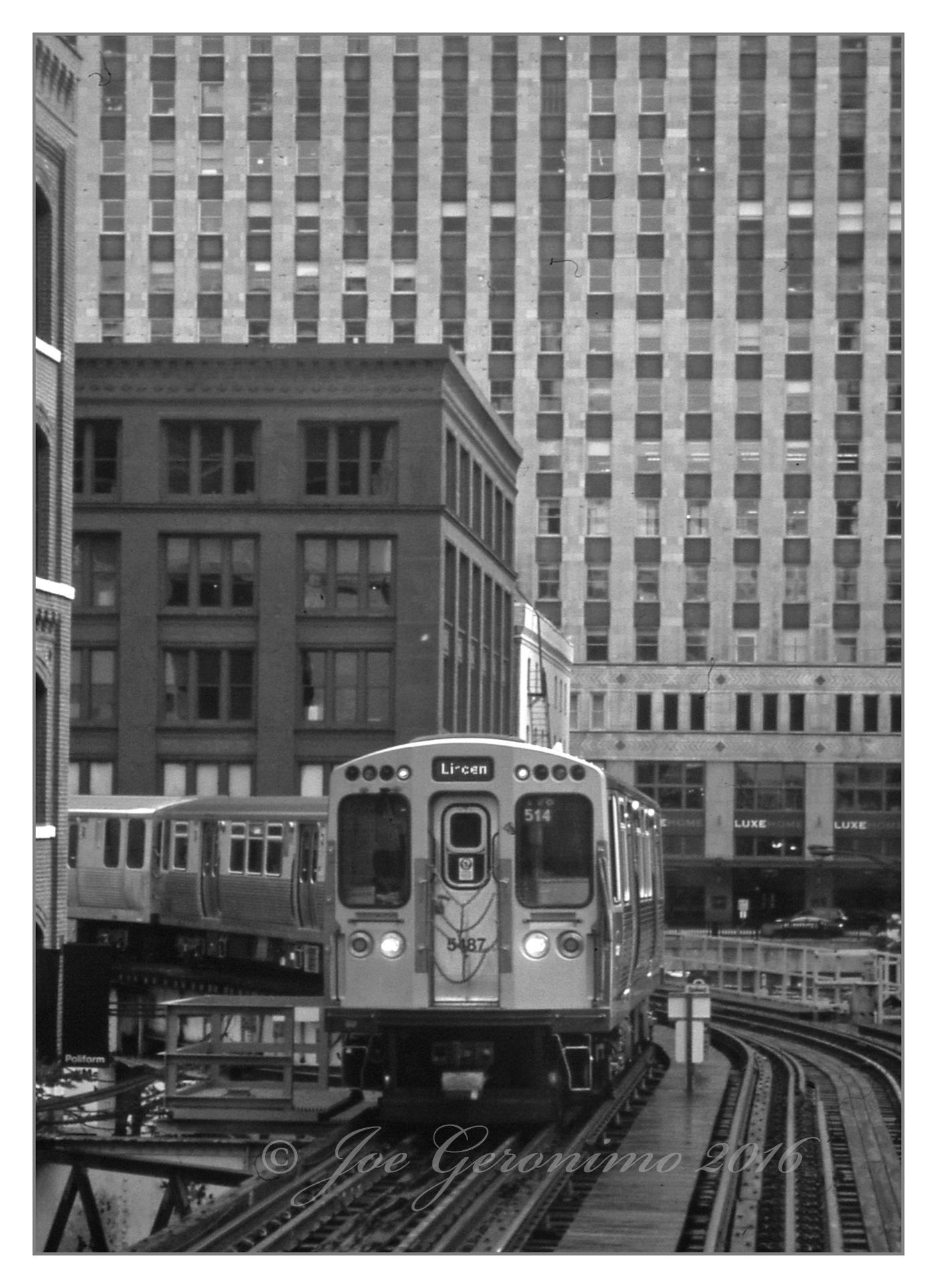 "The Chicago ""L"" July 15th 2016. Agfa CT Precisa 100 Slide Film, © Joe Geronimo"