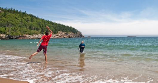 Sand Beach, Acadia National Park, Mount Desert, ME July 14th 2014. © Joe Geronimo